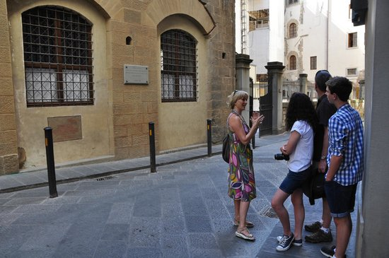 Florence Custom Tours: Adri showing us the site of a terrorist explosion in 1993