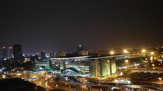 JB Central Hotel: View from the 19 floor at night