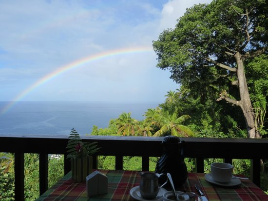 Stonefield Estate Resort: Daily rainbow from dining area