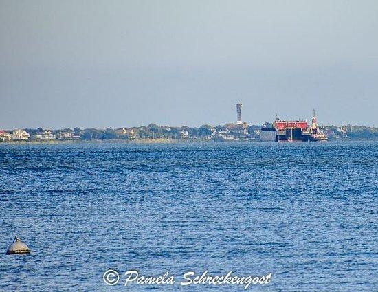 Sullivans Lighthouse from Charleston Waterfront Park