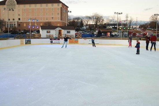Ice skating at the Rink at AvalancheXpress.