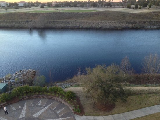 Marina Inn at Grande Dunes: The golf course across the waterway