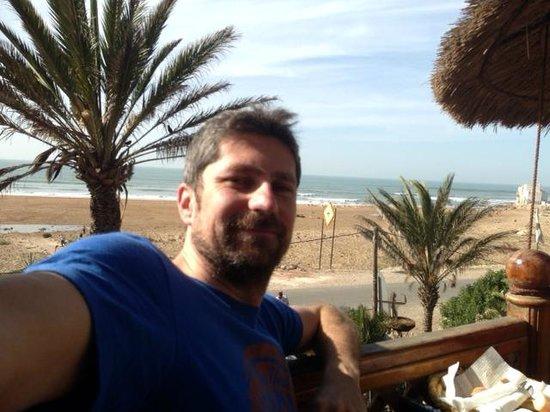 Sidi Kaouki : vista dalla terrazza e il mio faccione