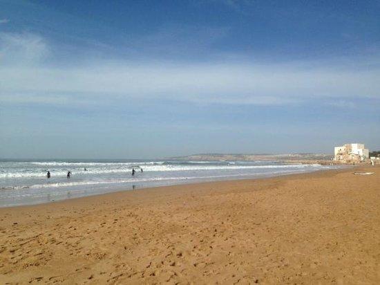 Sidi Kaouki: la spiaggia sottostante