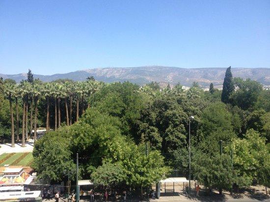 Amalia Hotel: Вид на главный парк Афин