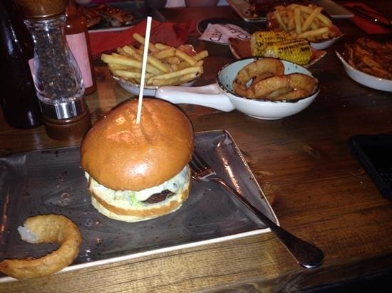Cleaver: burger with sides.