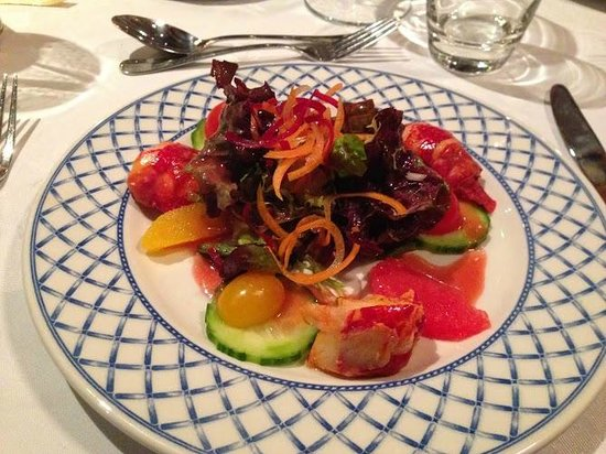 ... : Lobster and Citrus Salad, Blood Orange Dressing, Mixed Baby Leaves