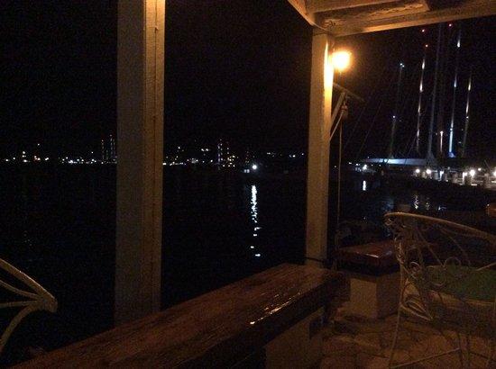 Cambusa Italian Restaurant: View across to the super-yacht marinas.