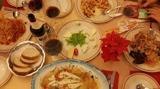 Ristorante Pizzeria Sant'Andrea: we have ordered 4 different meal for 4 person...