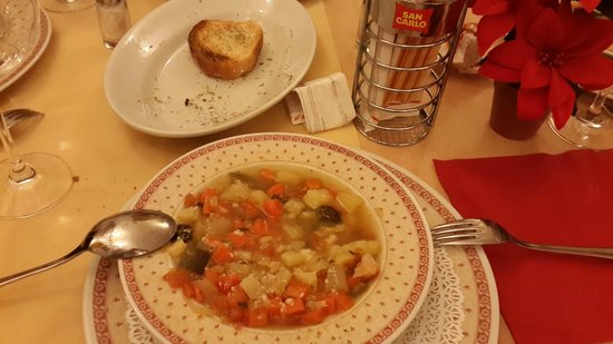 Ristorante Pizzeria Sant'Andrea: this is my vegetable soup... one of the best I have eaten...