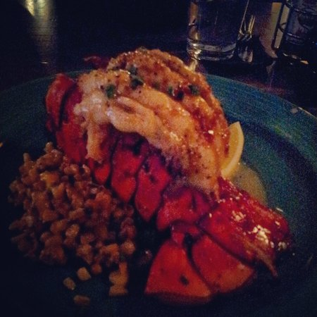 San Pedro Cafe: New Year's Eve Lobster with grilled corn & fingerling potatoes
