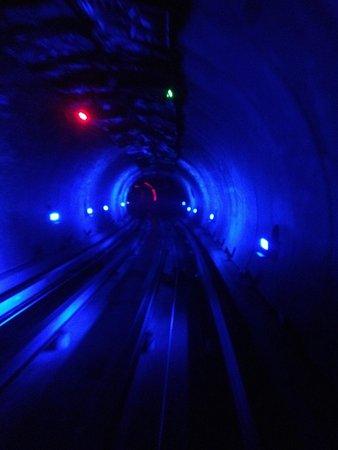 Bund Sightseeing Tunnel : Autre jeux de lumière