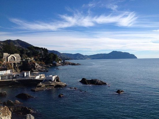 Passeggiata Anita Garibaldi a Nervi: vista panoramica
