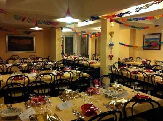 Hotel Costazzurra Museum & SPA : Il ristorante pronto ad accogliere un gran cenone di capodanno
