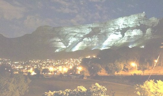 Trek Direct  Day Tours: Table Mountain under Floodlights- taken from our Office.