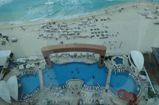 Beach Palace: View of beach from rooftop