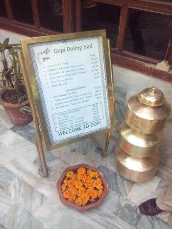 Gopi Dining Hall : Menu