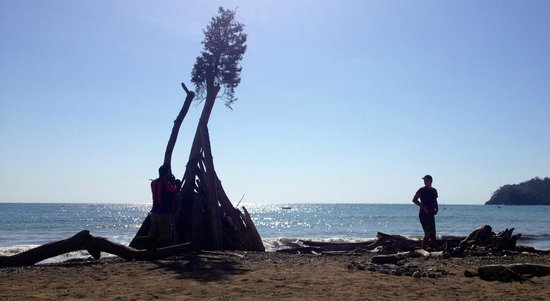 Fenix Hotel - On The Beach : Bonfire preparations