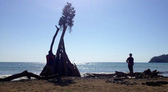 Fenix Hotel - On The Beach: Bonfire preparations