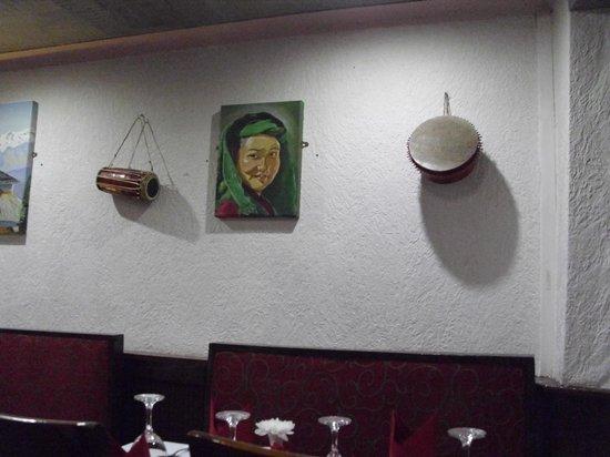 Inside decor at Gurkha Corner in Brecon