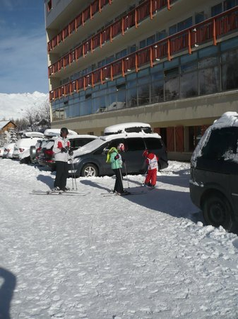 Hôtel Club mmv Le Panorama : De retour du ski, accès aux casiers à ski