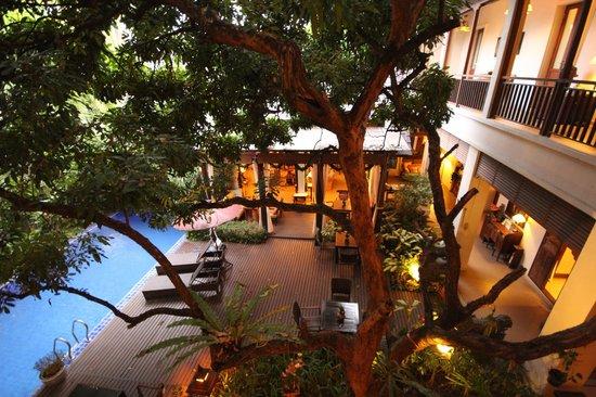 Baan Klang Wiang : courtyard and pool