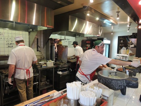 Restaurant Kitchen Staff very busy kitchen staff - picture of los tacos no. 1, new york