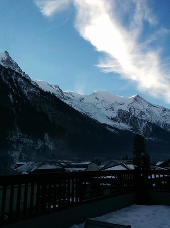 Le Morgane : MontBlanc from the room balcony