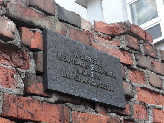Fragment of Ghetto Wall: Ghetto Wall plaque