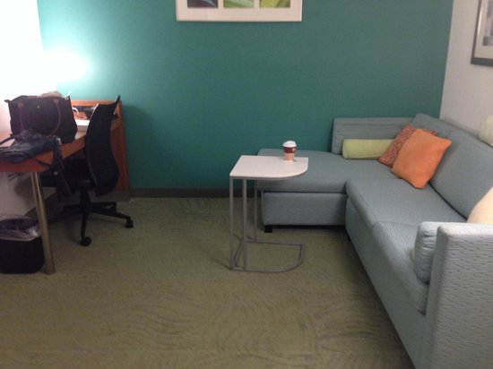 SpringHill Suites Charleston North/Ashley Phosphate : couch and a desk.  Pull out bed