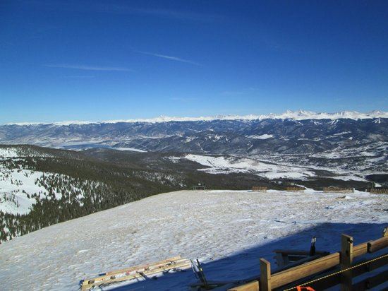 Breckenridge Ski Resort: View from Peak 6 to Lake Dillon