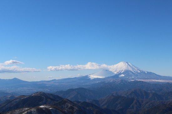 Mt. Tonotake: 山頂からの富士山