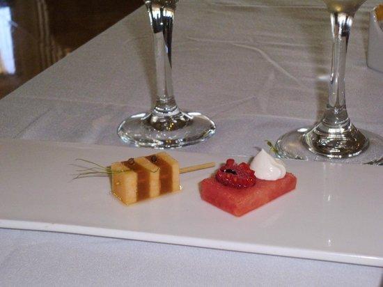 Restaurante Benazuza : Watermelon & Cantaloupe brochette