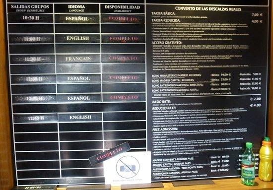 Monasterio de las Descalzas Reales : Entire Info Board
