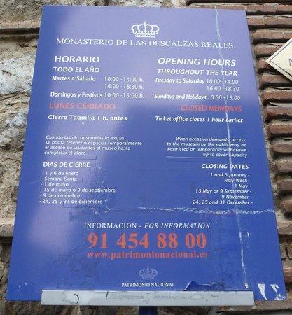 Monasterio de las Descalzas Reales : Outside Info
