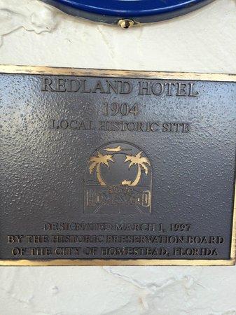 The Hotel Redland: Historic designation