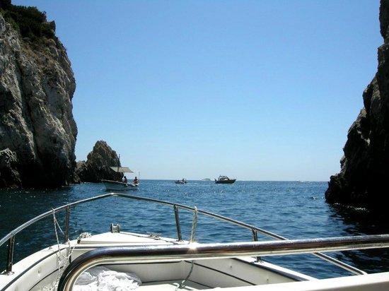 "Hotel Luna: Blick vom ""Capri Boot"""