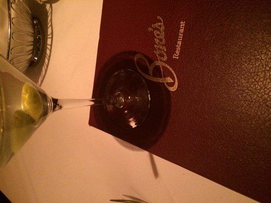 Bone's Restaurant: Martini's & Steaks. Nothing better.