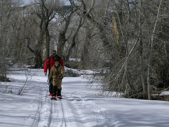 Vee Bar Guest Ranch: A good day to snowshoe!