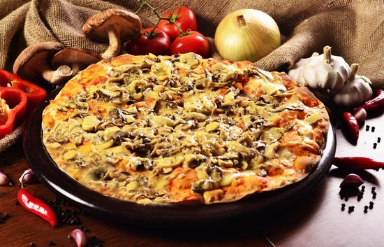 Villa Roma Pizzaria : Pizza Mix Cogumelo