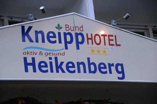Kneipp-Bund-Hotel-Heikenberg: Schild