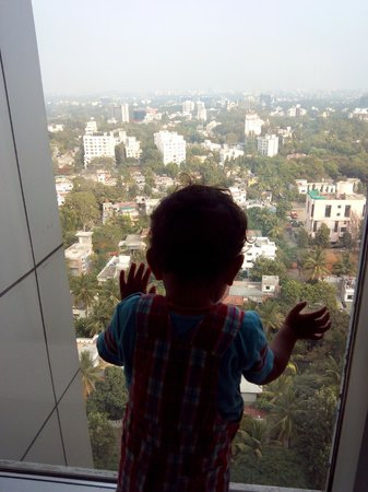 JW Marriott Hotel Pune: My son enjoying the view