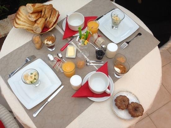 La Ferme de l'Oudon : petit dejeuner