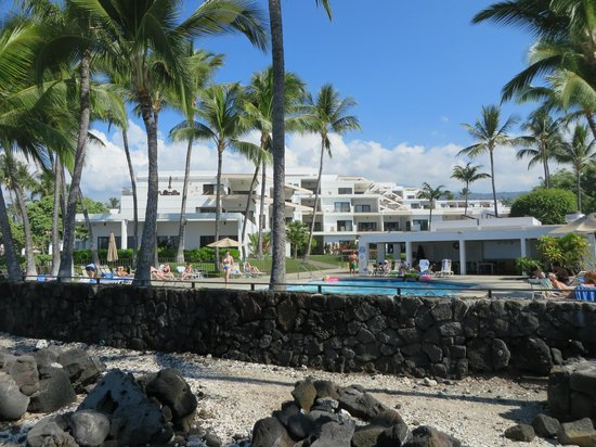 Outrigger Royal Sea Cliff: view of resort from shore