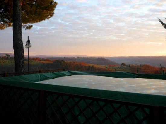 Villa Il Fedino: piscina e vista