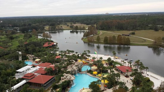 Hyatt Regency Grand Cypress: View from room, 15 floor.  EPCOT, Magic Kingdom