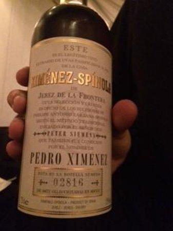 Corral de la Moreria: il prezioso vino liquoroso di Pedro Ximenez che si sposava in maniera eccellente con la cioccola