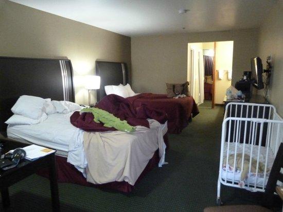 Sierra Nevada Resort & Spa: Notre chambre avec un beau crocodile !!!
