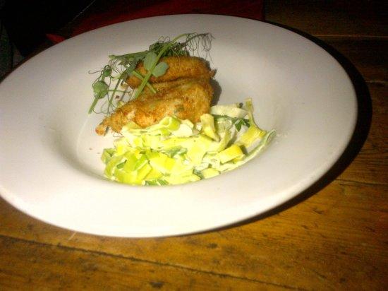 Blue Anchor Inn: Smoked Haddock Fishcakes with Creamed Leeks