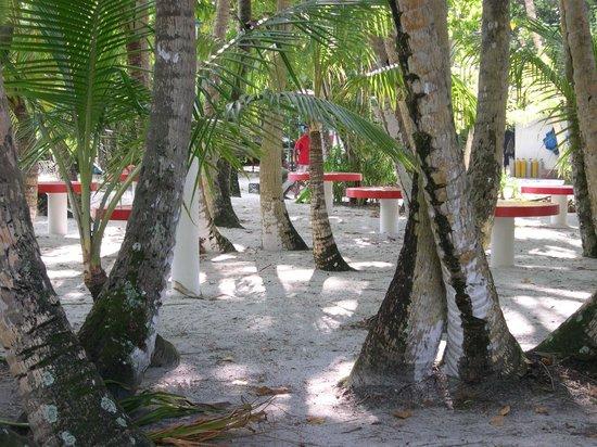 Asdu Sun Island: Tavolini esterni per ristoro